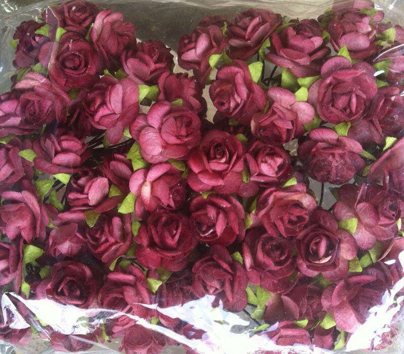 100 purple mulberry roses paper flowers size 18 cm 06 inch 100 purple mulberry roses paper flowers size 18 cm 06 inch embellishment bulk price mightylinksfo
