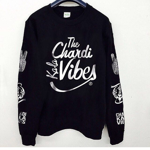 BACK IN STOCK!   Chardi Kala Vibes Crewneck   Available www.sikhexpo.com   $29.99   ready to ship today!