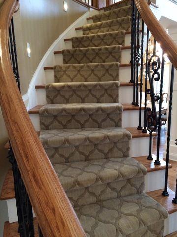 Beautiful Stanton Stair Runner Sold Installed By Top Notch   Stanton Carpet Stair Runners   Light Grey   Craftsman   Stairway   Leopard   Popular