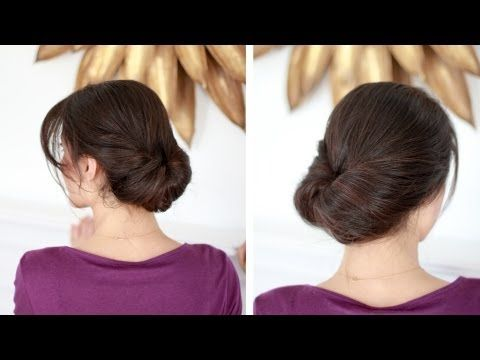 Easy Everyday Updo:  Works even with fine, thin hair.
