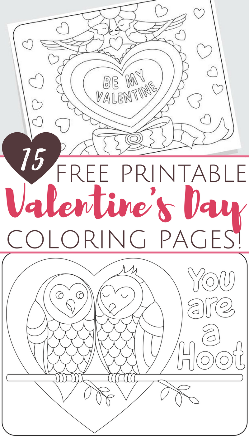 Free Printable Valentine\'s Day Coloring Pages for Adults and Kids ...