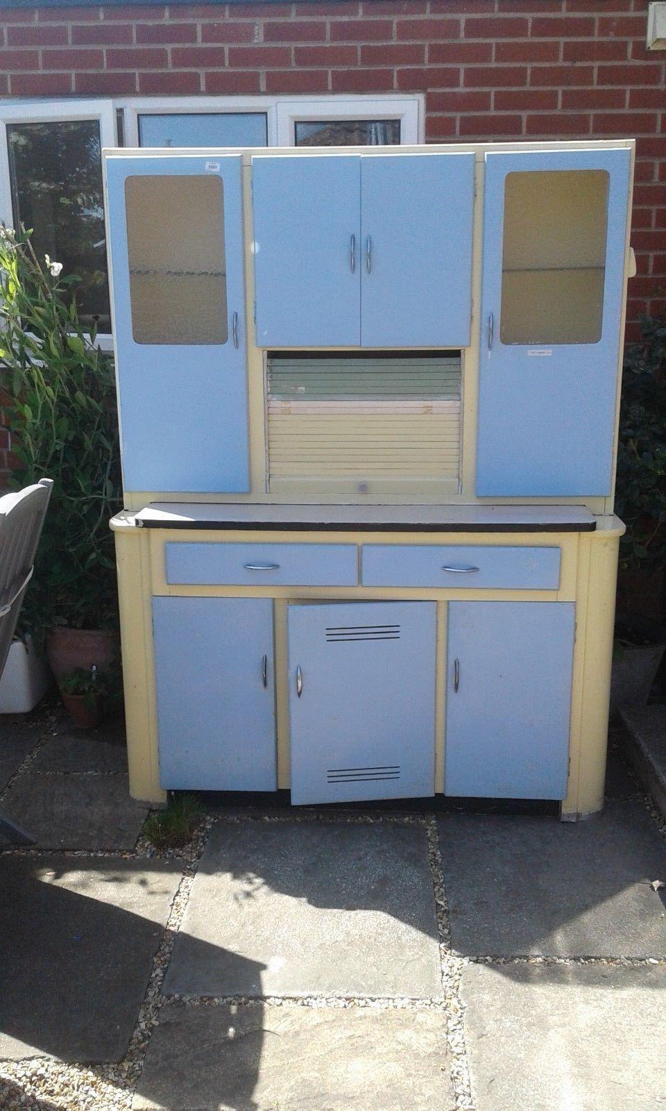 1950\'s vintage retro kitchenette kitchen unit cupboard | eBay ...