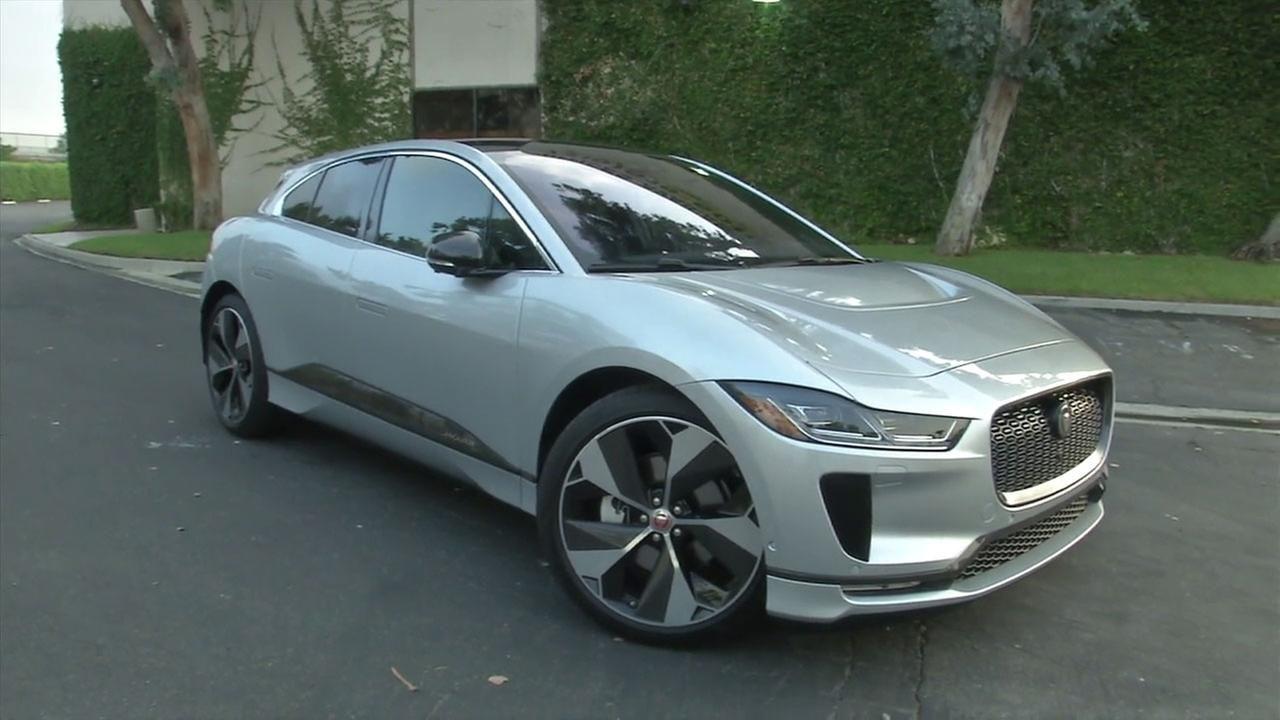 Silver Jaguar I Pace Jaguar Electric Cars Battery Powered Car