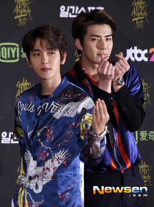Baekhyun & Luhan Iranian Fan Club - Baekhyun at Golden Disk Awards Red Carpet