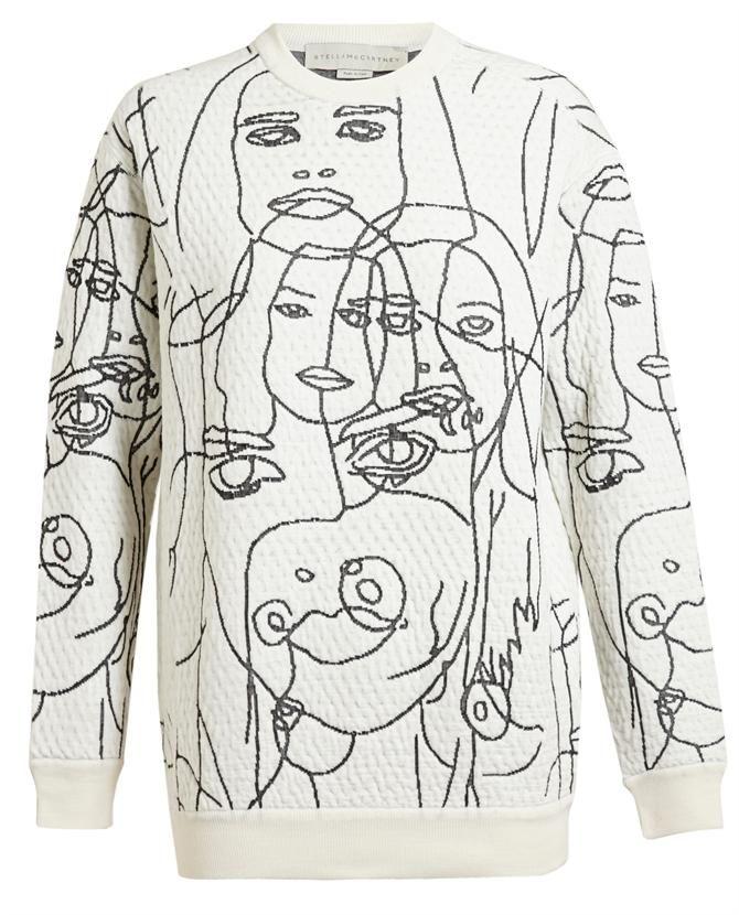 STELLA MCCARTNEY | Textured 'Faces' Jumper