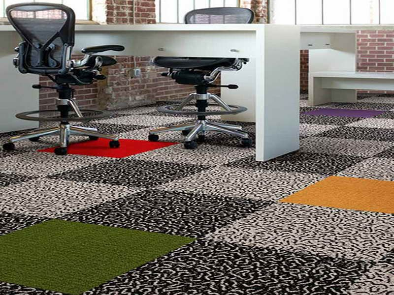Colorful Carpet Indoor Outdoor Carpet Tiles in Office Room | Indoor ...