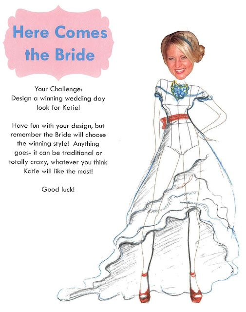 fun wedding shower game design a dress for the bride to be