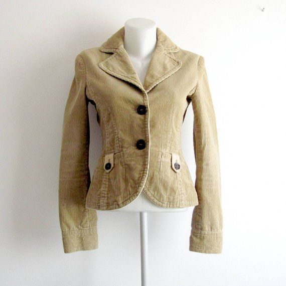 premium selection hot products low price sale Esprit Beige corduroy vintage jacket Small size Women ...