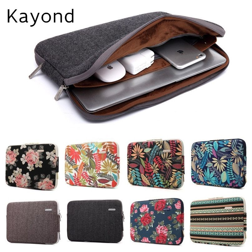 2017 New Brand Kayond Sleeve Case For Laptop 11 13 14 15 15 6 Inch Notebook Bag For Macbook Air Pro 13 3 Free Drop S Notebook Bag Macbook Air Case Macbook