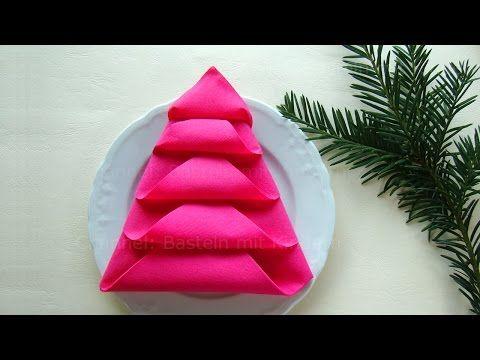 Servietten falten - Tischdeko Weihnachten - Weihnachtsdekoration ...