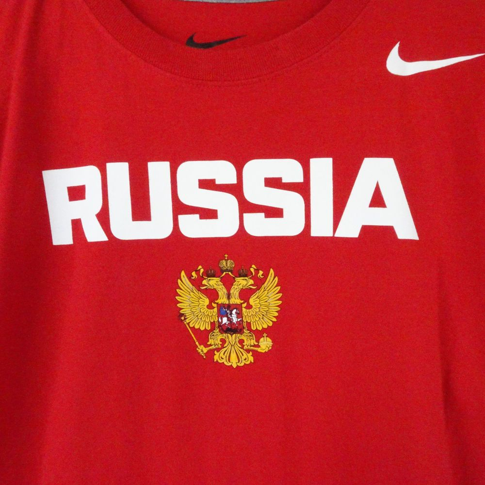 nuevo producto gran ajuste orden Nike Team Russia Hockey Short Sleeve Cotton Regular Fit T-Shirt ...