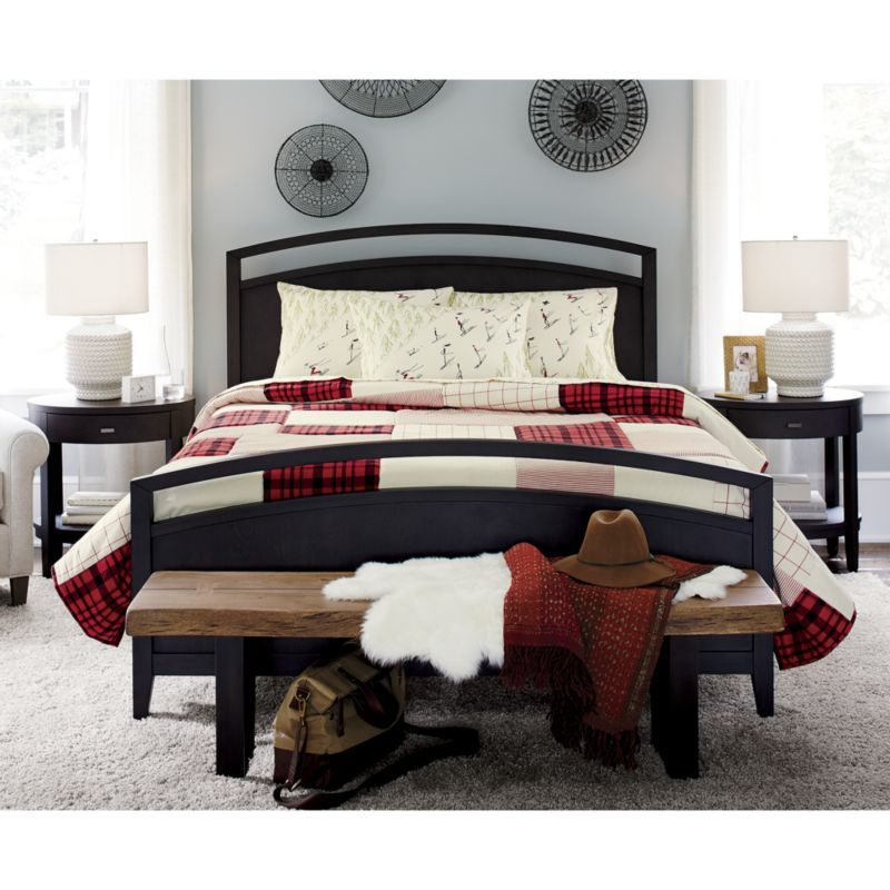 Arch Charcoal King Bed | Memphis, Throw rugs and Products
