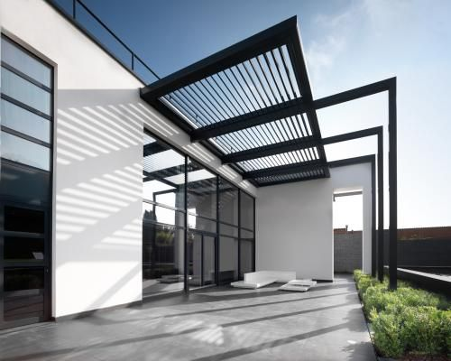zonwering-lamellendak-umbris-harol carport Pinterest Casas