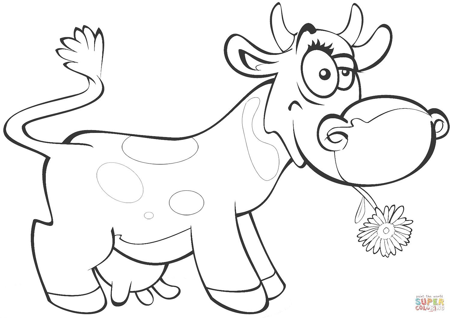 25 Best Picture Of Cow Coloring Page Cow Coloring Pages