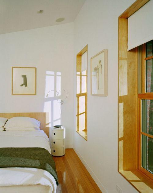 Wood Trim In Clean White Bedroom