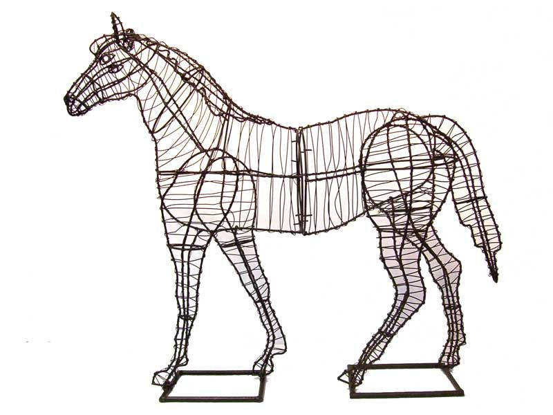 How To Make Topiary Animals Part - 50: Horse Animal Topiary Frame