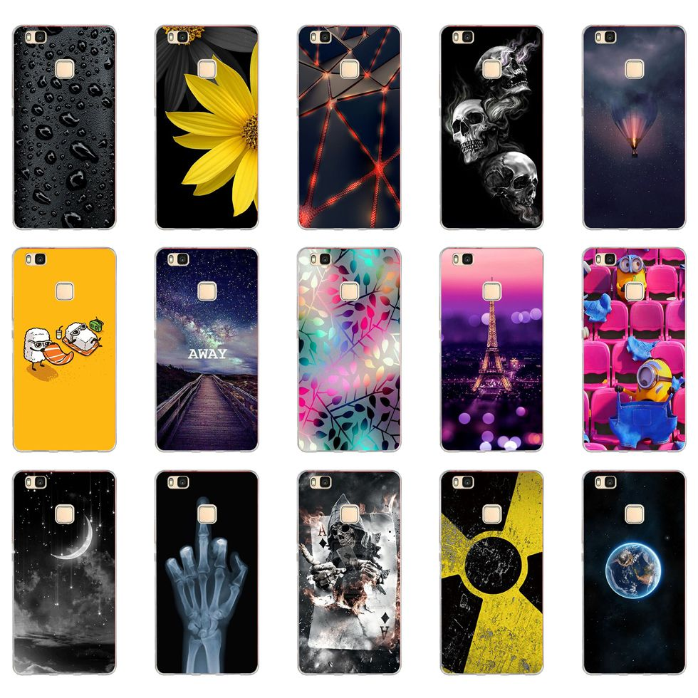 K For Cover Huawei P9 Lite Case Cute Animal Silicon Soft TPU for ...