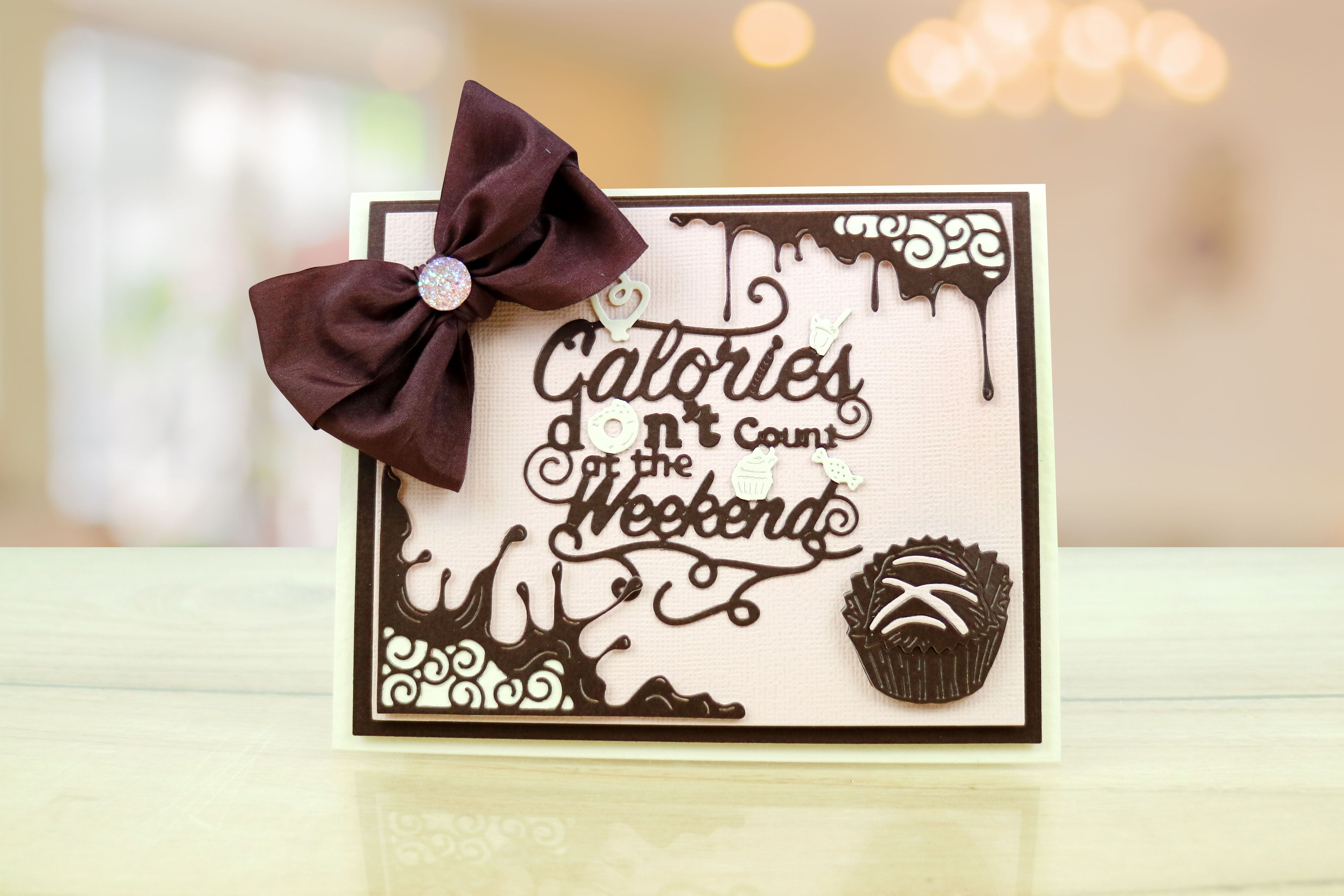 Sample Card From The Chocolate Collection By Tattered Lace