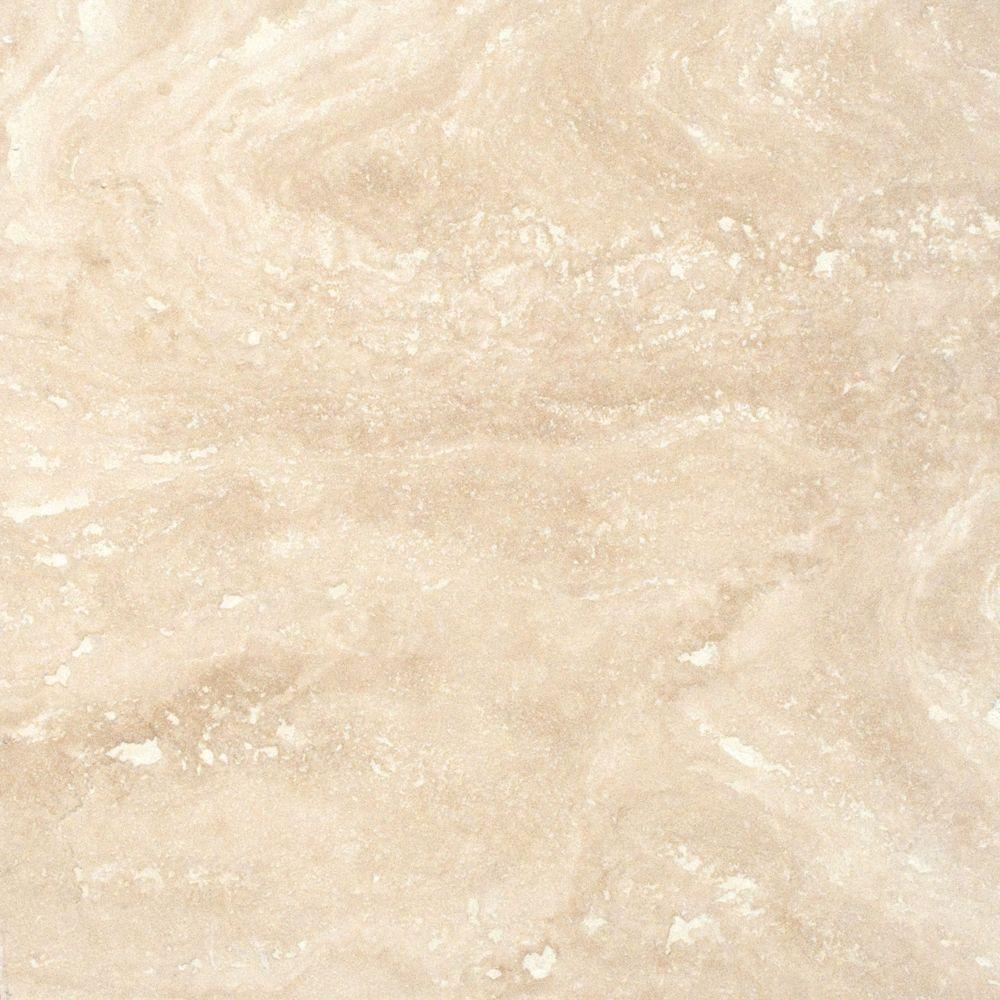 Msi Tuscany Ivory 18 In X 18 In Honed Travertine Floor And Wall Tile 9 Sq Ft Case Thdivory1818hf The Home Depot In 2020 Travertine Floors Travertine Tile Travertine