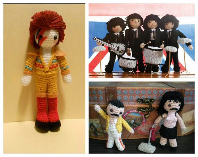 David Bowie by Sonia Goffin, The Beatles by Crochet Today, Freddie ...