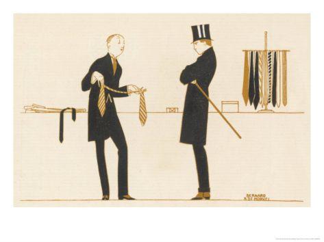 Gentleman Chooses a Tie to Purchase Giclee Print by Bernard Boutet De Monvel at Art.com