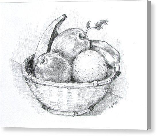 سلة فواكه للتلوين جاهزة للتحميل و الطباعة بفبوف Naturmort Fotografciligi Karakalem Cizimler Drawing