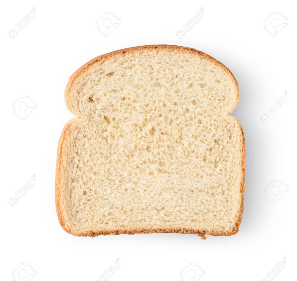 One Slice Of Bread Isolated On White Background Slice Of Bread White Background Bread