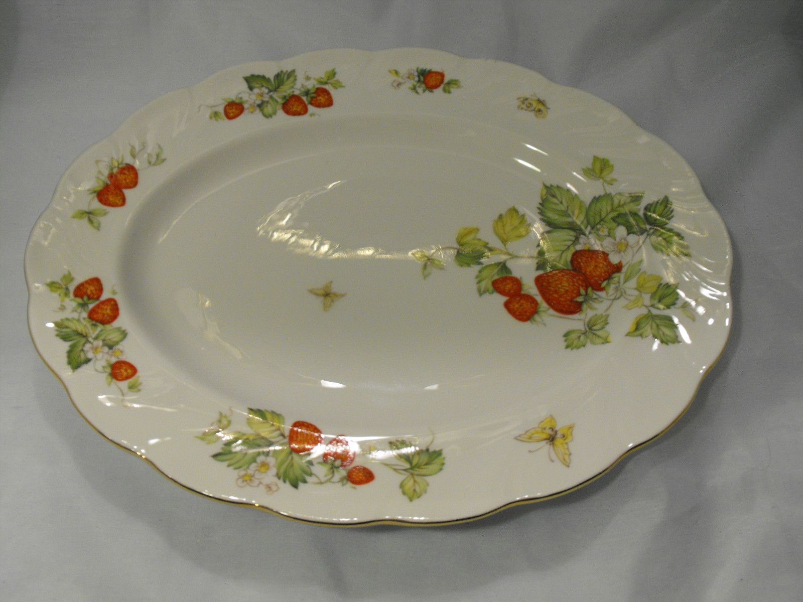 The china pattern of my dreams is called  Queen's Virginia Strawberry by Crownford.
