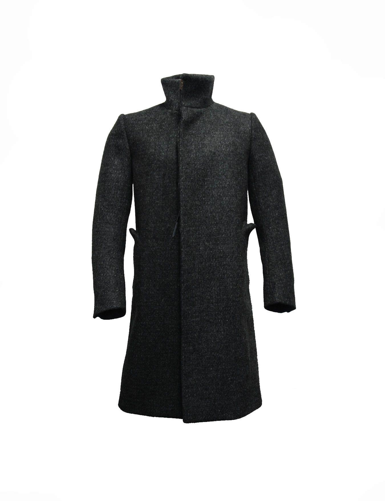 8a6aff73f Carol Christian Poell back raglan high neck coat. Grey color. Model: OM  2340L STEIN/9. Composizione: 100% virgin wool. Lining: 100% cotton.