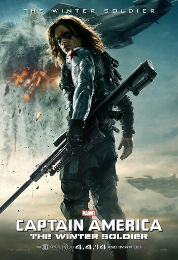 Brand NEW !!! Character poster from Captain America: The Winter Soldier featuring The Winter Soldier. Captain America: The Winter Soldier hits the big screen on April 4th 2014 !!!