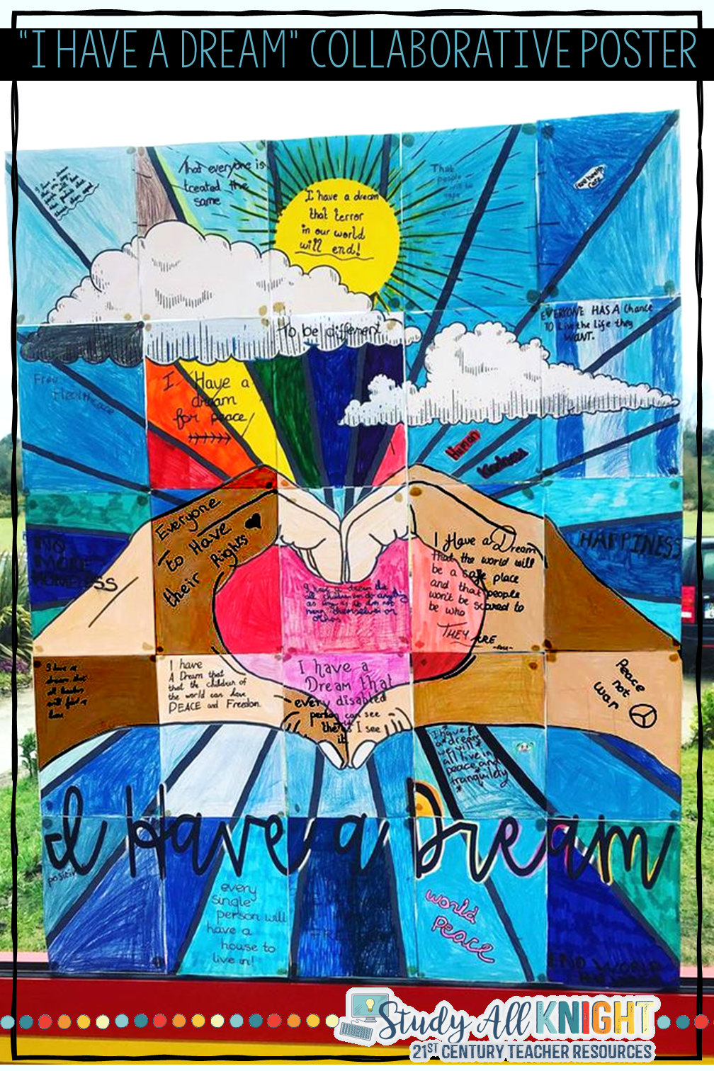 Martin Luther King Jr I Have A Dream Collaborative Poster Writing Activity Study All Knight Activitie Transcript Of Speech Dr. Text Full To The By Junior Analysi