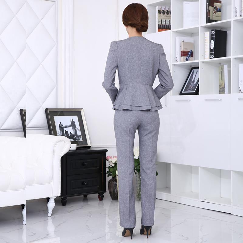 Para mujer trajes de negocios 2017 uniforme oficina de Diseno de uniformes para oficina 2017