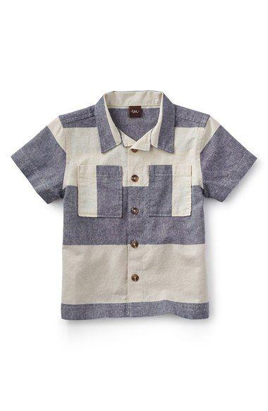 Tea Collection 'Sea Cliff' Stripe Linen & Cotton Shirt (Toddler Boys & Little Boys) available at #Nordstrom