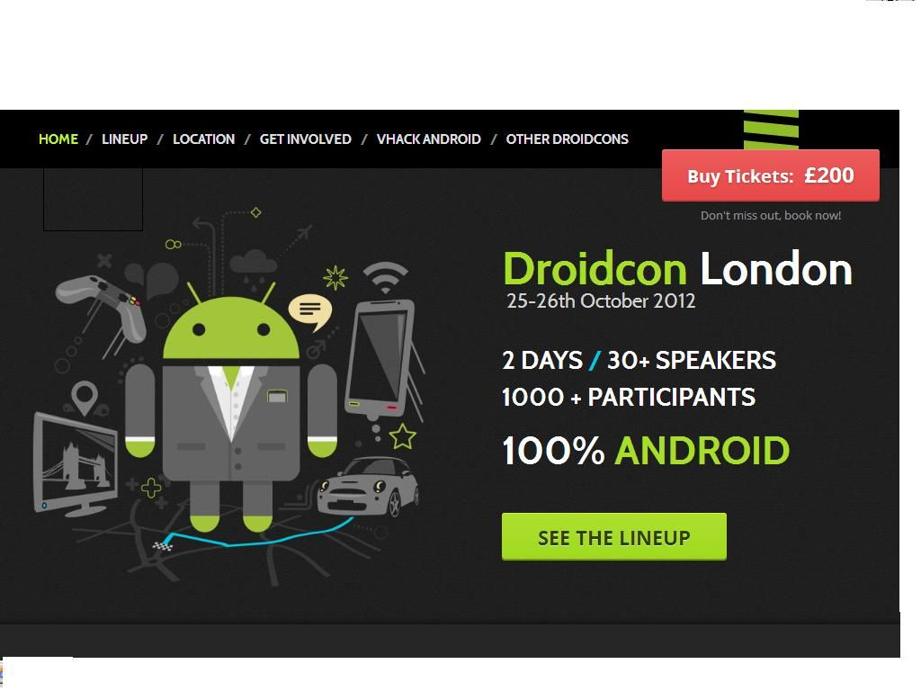 5 Years of #Android this November!   Droidcon #London: 2 Days/30+ Speakers... 1000+ Participants... 100% #ANDROID!!