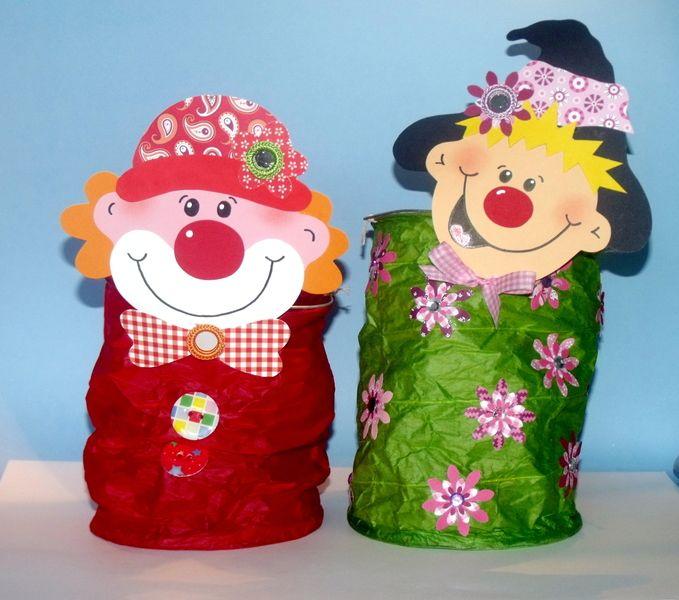 2 Laternen Clown Zauberer Von Ideen Eule Auf Dawanda Com Fasching