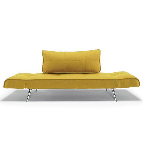 Miraculous Zeal Deluxe Daybed Mustard Chrome Living Out Loud Alphanode Cool Chair Designs And Ideas Alphanodeonline