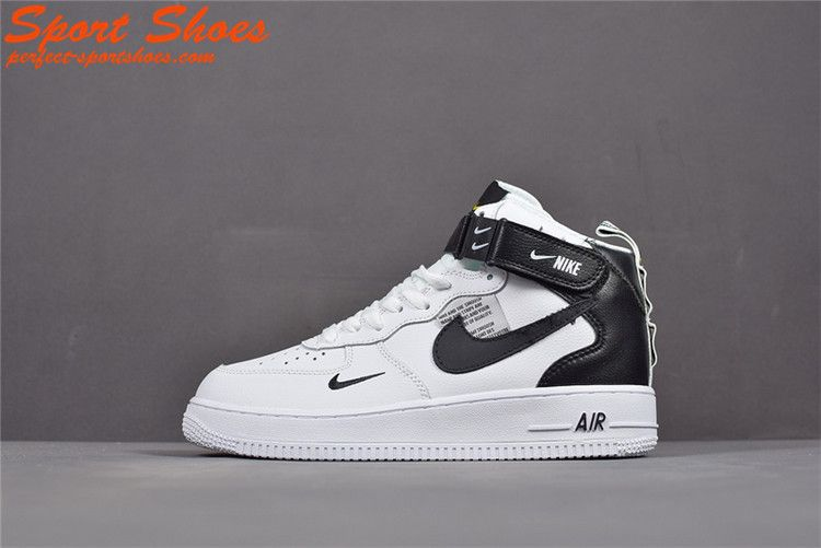 brand new 7d199 0ab4d 2019 Latest Fashion Nike Air Force 1 Utility High Tops Shoes Mens Casual  Shoes White Black