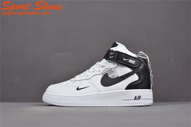 2019 Latest Fashion Nike Air Force 1 Utility High Tops Shoes Mens Casual Shoes White Black Aj7747 100 Nike Air Nike Shoes Air Force Nike Air Force High