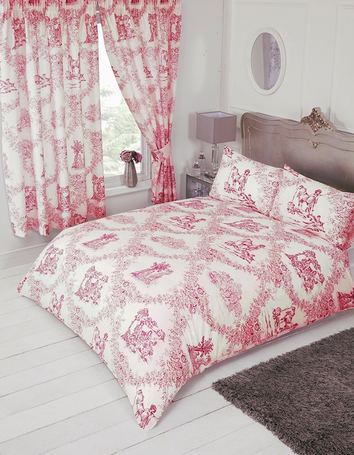 French Country Design Toile De Jouy Bedding Duvet Quilt Cover Set