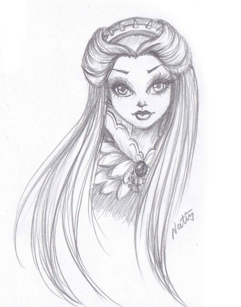 Sketch Raven Queen By Laminanati On Deviantart Ever After High Raven Queen Fantasy Art Dolls