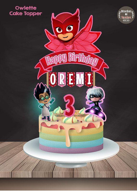 Owlette Cake Topper Birthday Party Custom Pj Mask