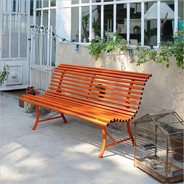 Louisiane 3 Sitzer Bank Gartenbank Metall Gartenstuhl Metall Gartenbank