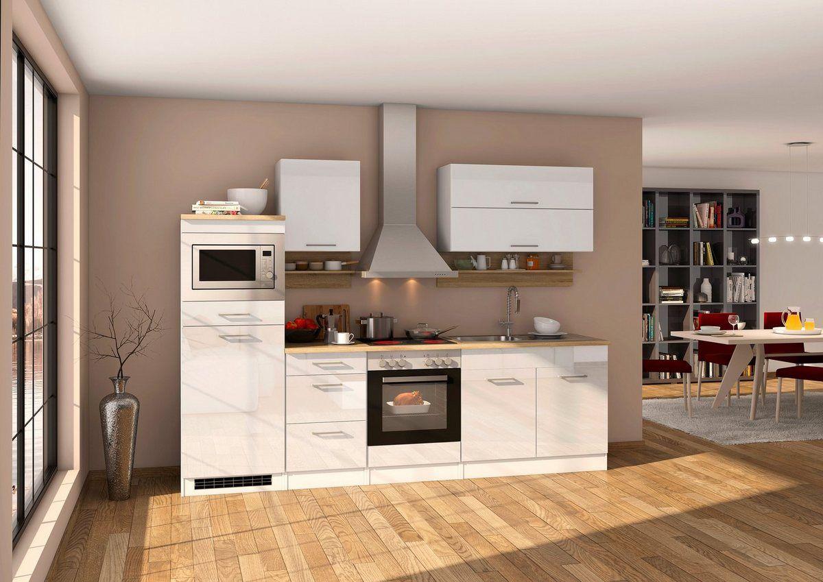 MADELINE Küche Dekor Weiß matt/Eiche San Remo