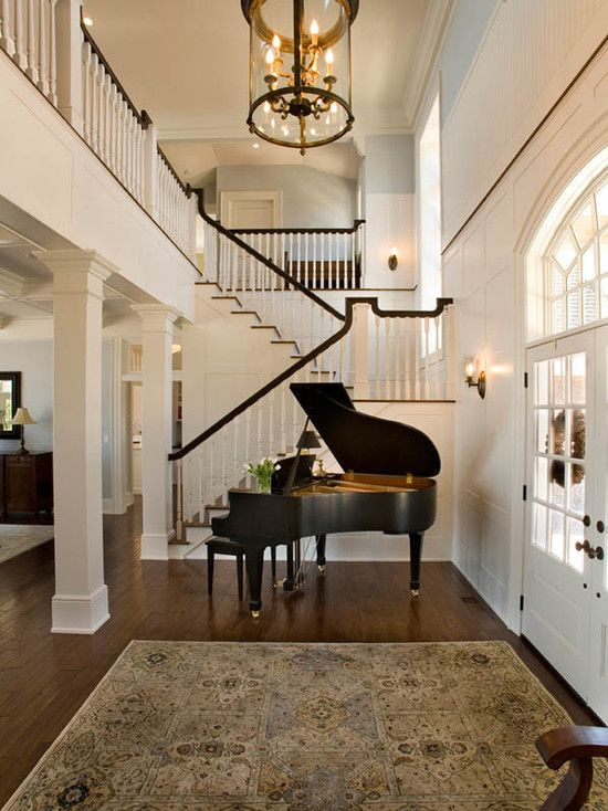 Foyer Ceiling Blue : Suzie mitch wise design two story foyer with grand