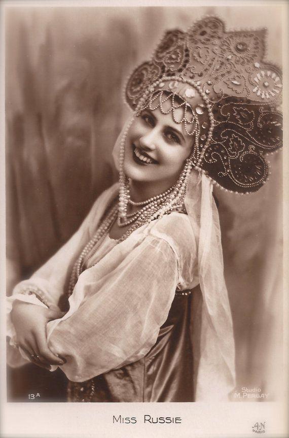 MISS RUSSIA 1932 (Nina Pol) Original RARE 1930s