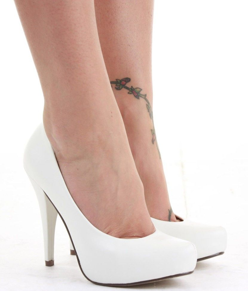 Simple White High Heel Shoes - http://ikuzoladyshoes.com/simple ...