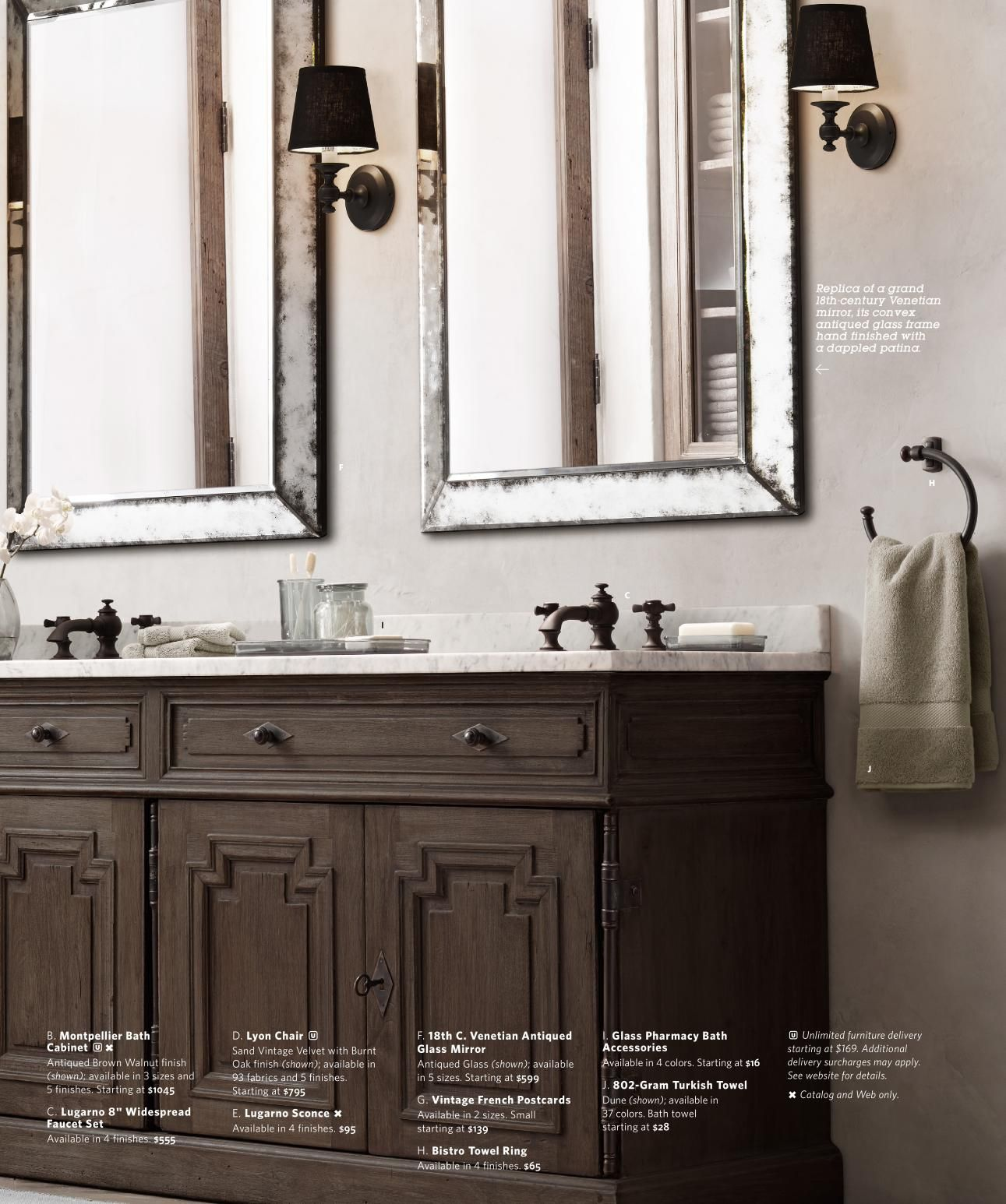 Rh Source Books Montpellier Vanity With Marble Top Inspired By Late 17th Century Louis Xiv Doors Emblematic Of French B Dream Rooms Dream Bathrooms Vanity