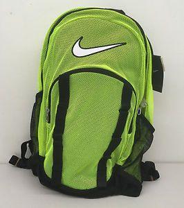 NIKE BRASILIA 7 XL MESH BACKPACK Voltack / White BA5078 710 - 2075 CU IN - NWT #Nike #Mesh #XL #BackPack #Lightweight #bag #Neon #Volt #Forsale #EBAY @EBAY
