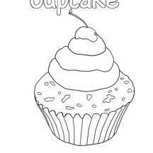 Cupcake | Cupcake coloring pages, Fairy coloring, Fairy ...