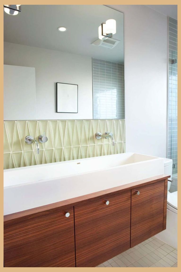 37 Amazing Mid Century Modern Bathrooms To Soak Your Senses Mid Century Modern Bath Mid Century Modern Bathroom Modern Bathroom Vanity Modern Bathroom Design